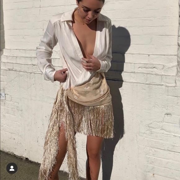 Choosy white Jacquemus inspired dress